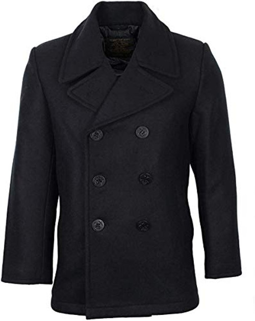 Genuine Issue Navy Pea coat Made In USA Made with US Mil-Spec Fabric & Materials Sewn to rigid government specs