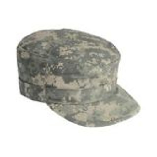 Patrol caps are made of single-ply construction with serged inside seam and plastic insert visors.