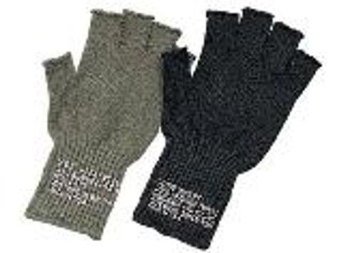 Fingerless wool gloves great for shooting sports and activities where your hands need to stay warm but need your fingers free.