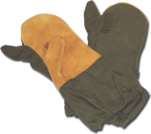 US Surplus trigger finger mittens with wool liners