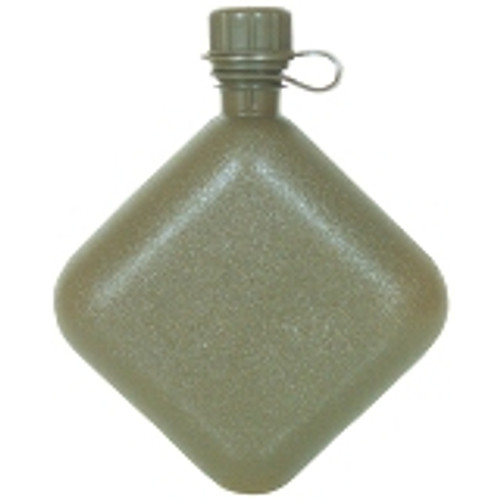 Made in the U.S.A. of heavy duty plastic. Olive Drab in color