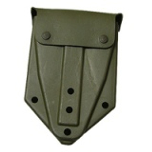 OD green, rubberized tri-fold shovel carrier Complete with Alice clips
