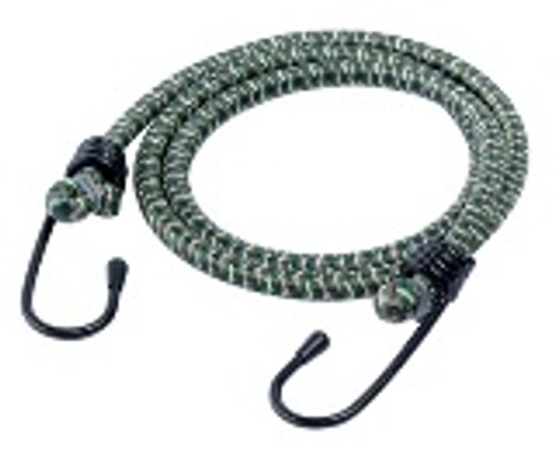 Standard 24 or 32 inch bungee cords with metal hooks sold in packs of 4