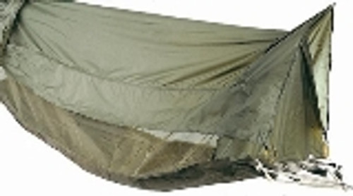 "Keep dry and comfortable when sleeping in the outdoors with the GI Style Jungle Hammock. It is rugged, durable and will protect you from insect bites.  Features of the Jungle Hammock:  •78"" x 30"" x 20"" Elevated Shleter •Mesh Netting w/ Tafetta Nylon (Mosquito Netting) •Coated Roof and Heavy Cotton Canvas Floor •Attached Ropes and Clews"