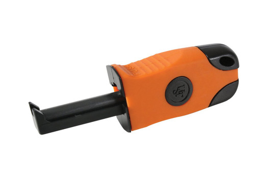 Features One-handed Operation In A Lightweight Compact Design , Can Be Used In The Most Adverse Weather Conditions And Works Even If Wet , Weighs Less Than One Ounce , Features A Reconfigured Striker Tab Enclosure And Spark Bar , The Compact Body Has A Rubberized Grip Wrap Allowing Maximum Control And Comfort During Use , Operated By Pressing Down On The Thumb Tab Which Houses The Striker And Plunging The Striker Down The Misch Metal Spark Bar , The Striker Is Set At The Perfect Angle To Achieve Maximum Sparks And Requires Less Force Than Traditional Flint And Steel Two-handed Fire Starters , Its One-handed Operation Is Simple And Can Be A Life-saving Aspect In Case Of Injury To A Hand Or Arm , U.S. Made