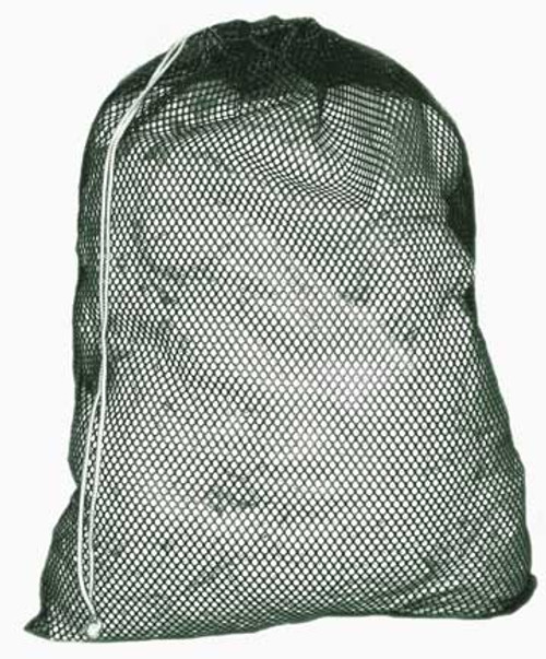 Mesh is breathable and easy to see through Will not mildew, rot, or retain odors Drawstring closure Perfect for laundry, toys, or as a wash & tote bag Made in the USA  Available in 16 x 24 and 24 x 34