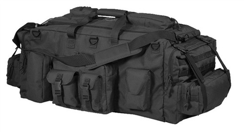 "Gigantic"" isn't even in the same league as this guy!. Measuring a whopping 40""L x 20""W x 15""T with no less than eleven assorted - size exterior pouches, lots of webbing to attach even more pouches, double-zip access to the cavernous main compartment, double compression straps on each end, metal ""D"" ring attachment points abound, top clear ID window, wrap-around carry handle, adjustable, removable shoulder strap with movable pad and when the load gets too heavy, we've provided a padded, adjustable shoulder strap harness concealed in the bottom of the bag when not needed. Weighs 7.33 lbs. Please specify color."