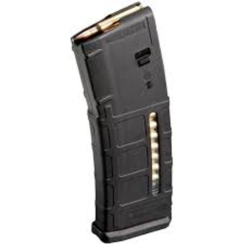 Magpul Original Equipment (MOE) is a line of firearm accessories designed to provide a high-quality, economical alternative to standard weapon parts. The MOE line distinguishes itself with a simplified feature set, but maintains Magpul engineering and material quality.  The PMAG 30 AR/M4 GEN M2 MOE Window is a 30-round 5.56x45 NATO (.223 Remington) AR15/M4 compatible magazine that offers a cost competitive upgrade from the aluminum USGI. It features an impact resistant polymer construction, easy to disassemble design with a flared floorplate for positive magazine extraction, resilient stainless steel spring for corrosion resistance, and an anti-tilt, self-lubricating follower for increased reliability.  In addition, durable dual-side transparent windows allow for quick determination of approximate number of rounds remaining in the magazine. Utilizing a high visibility indicator coil on the spring and numerical markers on the magazine body, the MagLevel™ system provides positive verification without affecting the durability or reliability of the magazine.  The GEN M2 MOE is identical in form and function to the older model PMAG except that the optional Impact/Dust Cover is now sold separately.  Made in U.S.A.  ITAR International Traffic in Arms Regulations Controlled Product