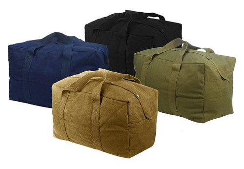 "GI SPEC FLIGHT KIT BAGS      1000 Denier Nylon Construction     2-Way Zipper     Web Strap Handles     22""x20""x12"""
