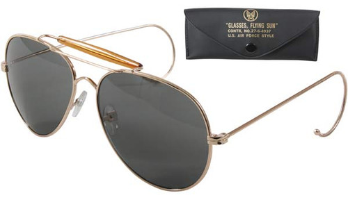 Aviator Air Force Style Sunglasses UV acrylic lens with a true military style.