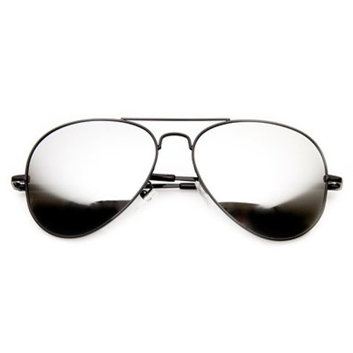 a07d0d25859 ... 58mm Polarized Sunglasses feature an aviator style metal frame with acrylic  lens