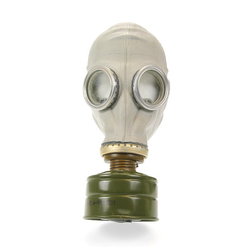 This Russian Gas Mask is a single filter gas mask. It was issued to the Soviet population starting in 1970; production ended in 1989. The gas masks are designed to protect from nuclear, biological and chemical (NBC) agents. These protective masks are intended to protect the respiratory organs, face and eyes from the effects of toxic agents, radioactive dust and bacteriological aerosols. This is a brand new civilian model gas mask. Includes a filter, carrying case, and spare eye lenses. GAS MASKS ARE NOT RETURNABLE ITEMS. WE MAKE NO CLAIMS AS TO THE EFFECTIVENESS OF ANY OF THE GAS MASKS. SOLD AS NOVELTY ITEMS ONLY.