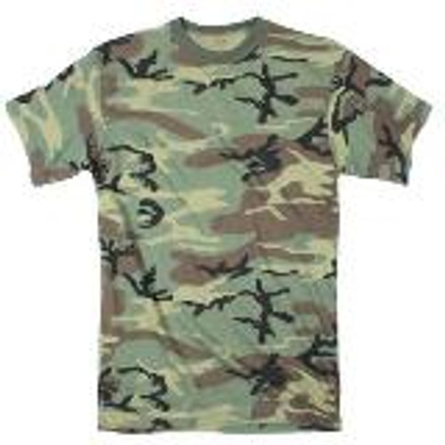 100% Cotton Woodland Camo T Shirt