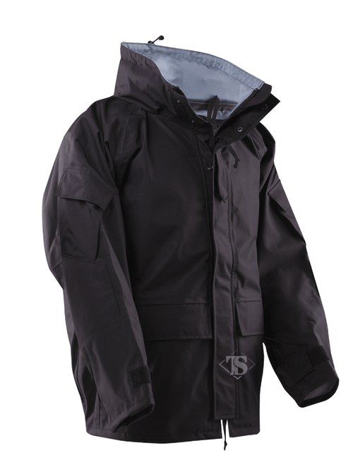 Perfectly designed parka made with an improved 3-layer windproof, waterproof, breathable material to keep you dry and comfortable no matter what the weather throws at you. The secret is the high quality, environmentally safe Bemis seam tapes. Seam tape is the critical link in the chain of waterproof protection and Bemis is the recognized worldwide technology leader in providing thermoplastic films for a myriad of industrial applications. Designed to be compatible with our Polar Fleece Jacket (not included).;