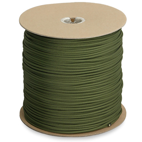 "GENUINE ISSUE 1/8"" 550 cord Available in 1200 ft. spool. (OD Green only) Made in the USA"
