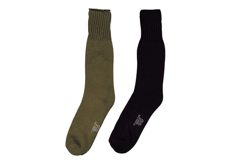 50% Wool, 30% Cotton and 20% Nylon Available in Small, Medium, Large, and Xlarge Made in the USA
