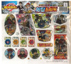 Officially Licensed Beyblade Metal Fusion Hologram Sticker Set