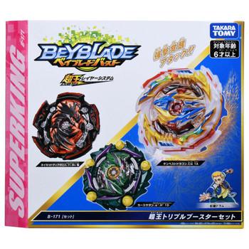TAKARA TOMY Beyblade Burst Superking Triple Booster Set B-171
