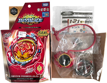 TAKARA TOMY Revive Phoenix.10.Fr Burst Turbo Beyblade B-117 (Rare Black Wing Version)