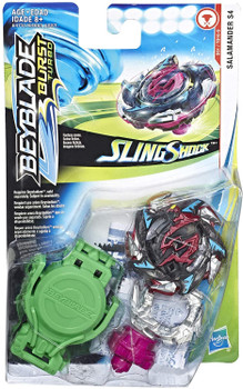 HASBRO Hell / Heat Salamander S4 12 Operate-S Burst Turbo Slingshock Beyblade Starter Pack E4731