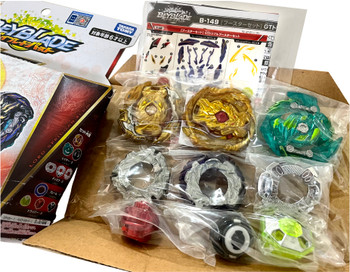 TAKARA TOMY Beyblade Burst Rise GT Triple Booster Set B-149 (Rare Recolor Gold Version)