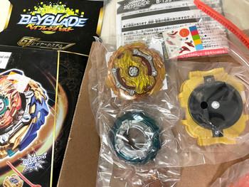 TAKARA TOMY Wizard Fafnir .Rt.Rs Burst Rise GT Beyblade B-139 (Rare Gold Recolor Version)