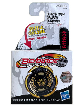 HASBRO Black Sun Gold Galaxy Pegasus / Pegasis GB145MS Metal Masters Beyblade