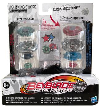 HASBRO Lightning Sword Showdown 2-Pack w/ Ray Striker Unicorno & Inferno Gasher Beyblades