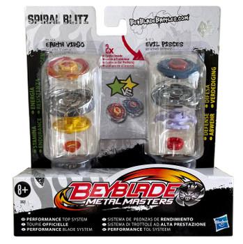 HASBRO Spiral Blitz Beyblade 2-Pack w/ Earth Virgo & Evil Pisces