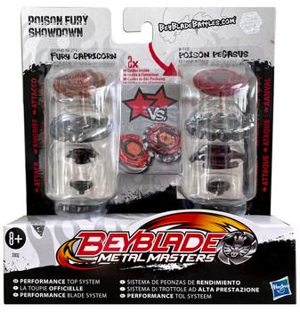 HASBRO Poison Fury Showdown Beyblade 2-Pack w/ Fury Capricorn & Poison Pegasus