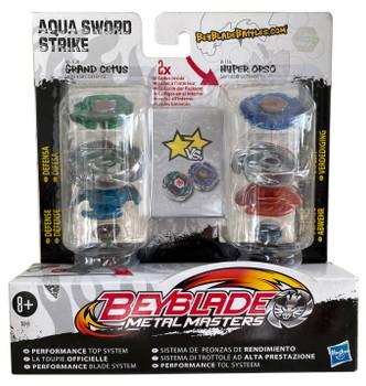 HASBRO Aqua Sword Strike Beyblade 2-Pack w/ Grand Cetus & Hyper Orso