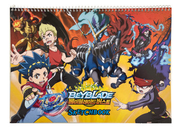 TAKARA TOMY / YOUNG TOYS Officially Licensed Large Beyblade Burst Sketch Book