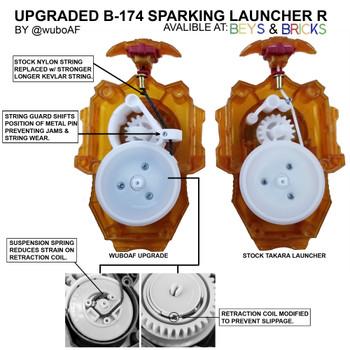 Custom Upgraded TAKARA TOMY Beyblade Burst Long BeyLauncher R String Sparking Launcher B-174