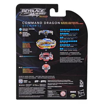 HASBRO Command Dragon Vanguard-P Quick'  Burst Surge PRO SERIES Beyblade F2332