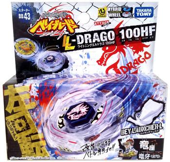 TAKARA TOMY Lightning L-Drago 100HF Metal Fusion Beyblade Starter Set w/ Launcher BB-43