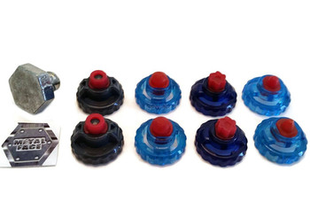 Beyblade Special RUBBER Tips Pack Lot Set Parts + METAL FACE Bolt