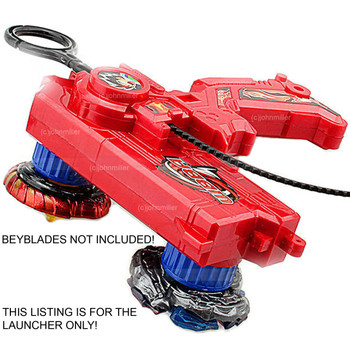 Beyblade Duotron Dual Launcher / Ripper, RED