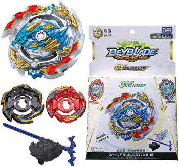TAKARA TOMY Ace Dragon .St.Ch Beyblade Burst GT Starter w/ Launcher + Rock & Dragon Layers B-133
