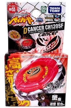 TAKARA TOMY Dark Cancer / Gasher CH120SF Metal Fusion Beyblade BB-55