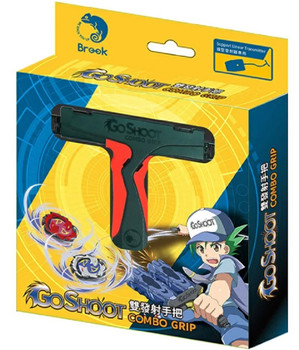 Brook Design GoShoot RED Dual Combo Beyblade Grip - LAUNCH 2 BEYS AT ONCE!
