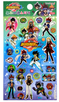 Officially Licensed Beyblade Metal Fusion Fight Sticker Set