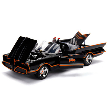 JADA # 98625 DC Classic TV Series Batmobile, 1:18 Diecast Model w/ Batman & Robin Figures
