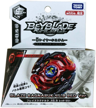 TAKARA TOMY Red Blaze Ragnaruk .4S.B / Roktavor WBBA Burst Evolution Beyblade B-00