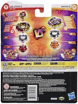 HASBRO Roktavor R5 & Lord Spryzen S5 / Spriggan Burst Rise HyperSphere Beyblade Dual Pack E7729
