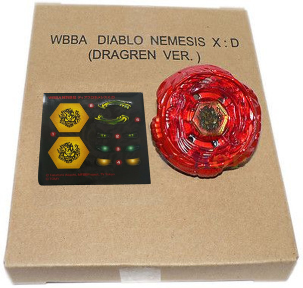 TAKARA TOMY WBBA Red Diablo Nemesis X:D Dragren  Beyblade