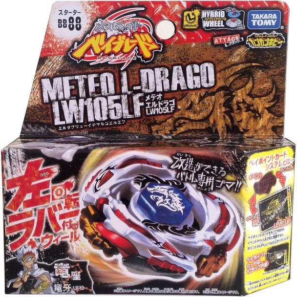 TAKARA TOMY Meteo L-Drago LW105LF Metal Masters Beyblade Starter w/ Launcher BB-88