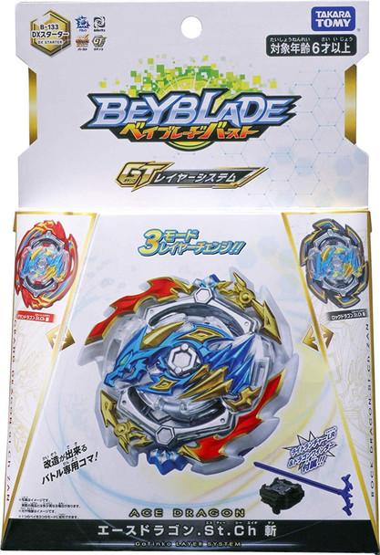 TAKARA TOMY Ace Dragon .St.Ch Beyblade Burst GT Starter w/ Launcher + Rock & Dragon Layers B-133