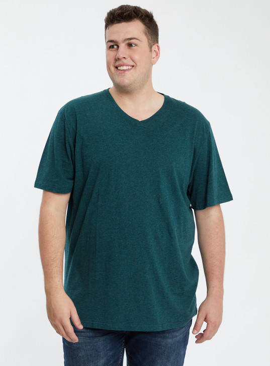 ESSENTIAL V NECK TEE FOREST