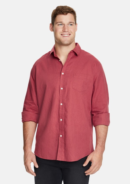 ANDERS LINEN SHIRT CLAY