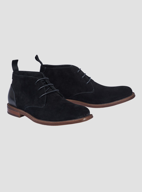 JOHNNY BIGG TATE SUEDE PANEL DESERT BOOT
